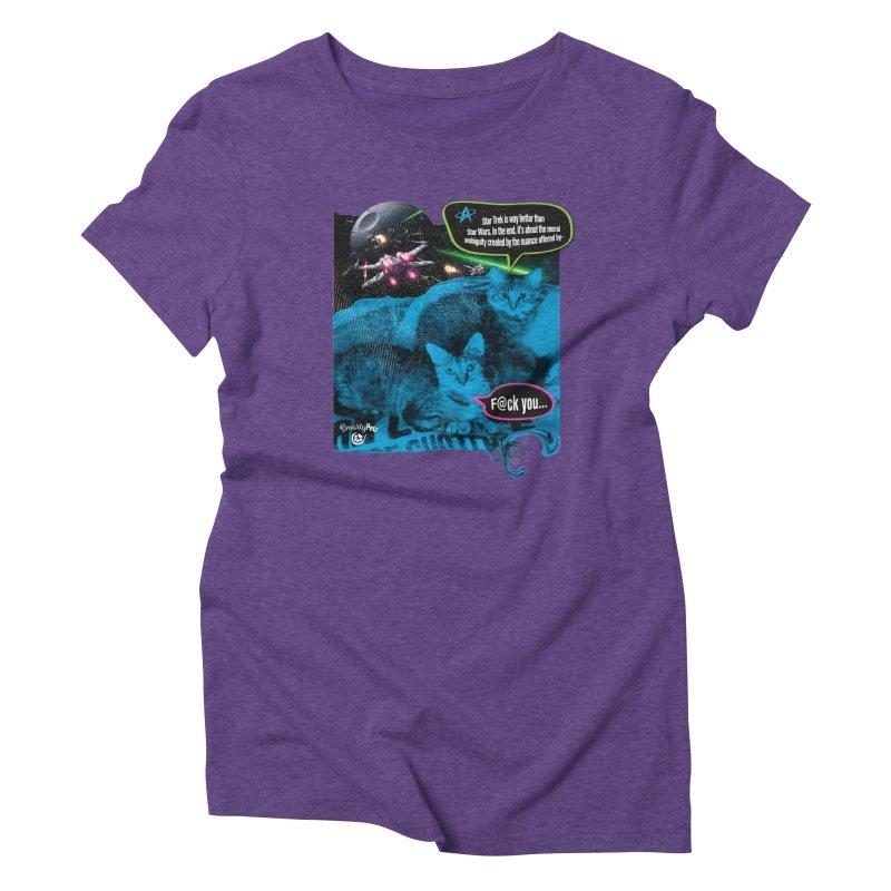 Star Trek -VS- Star Wars Women's Triblend T-Shirt by Smarty Petz's Artist Shop