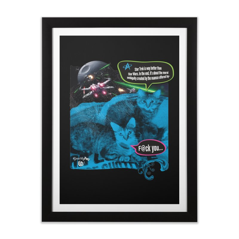 Star Trek -VS- Star Wars Home Framed Fine Art Print by SmartyPetz's Artist Shop
