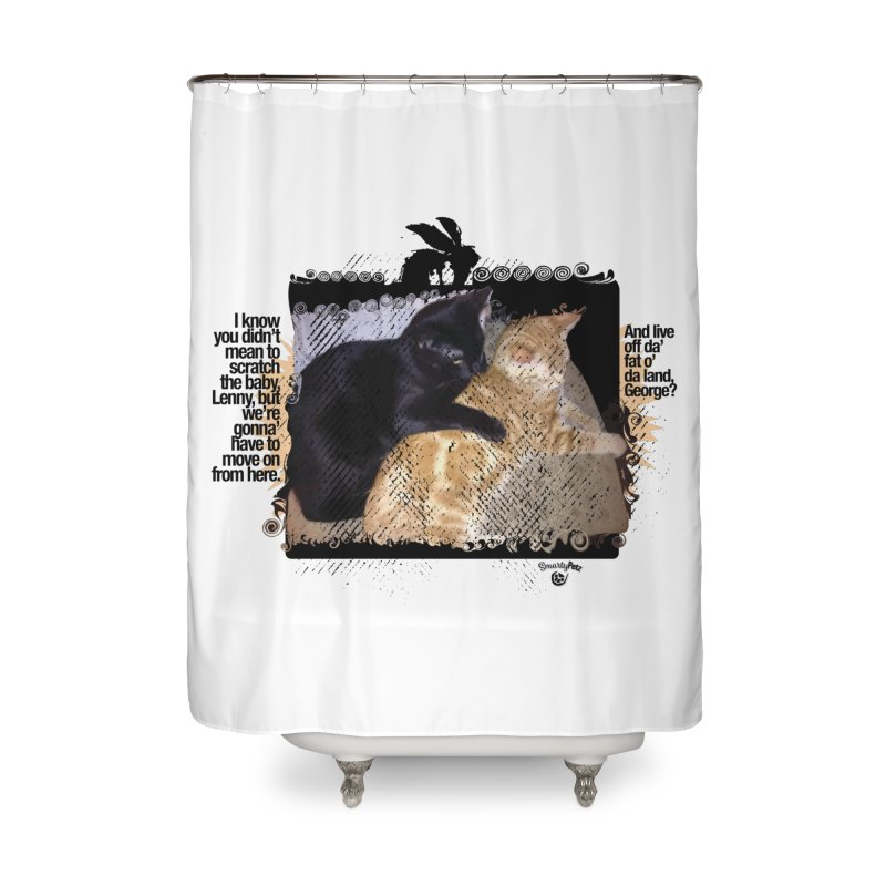 of Mice & Men Home Shower Curtain by SmartyPetz's Artist Shop