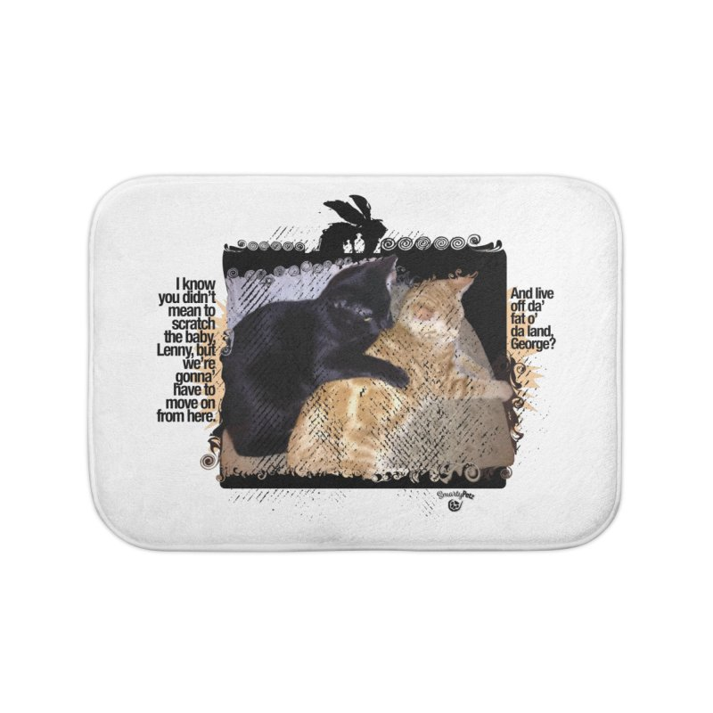 of Mice & Men Home Bath Mat by SmartyPetz's Artist Shop