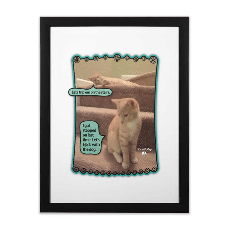 Let's f@ck with the dog. Home Framed Fine Art Print by Smarty Petz's Artist Shop