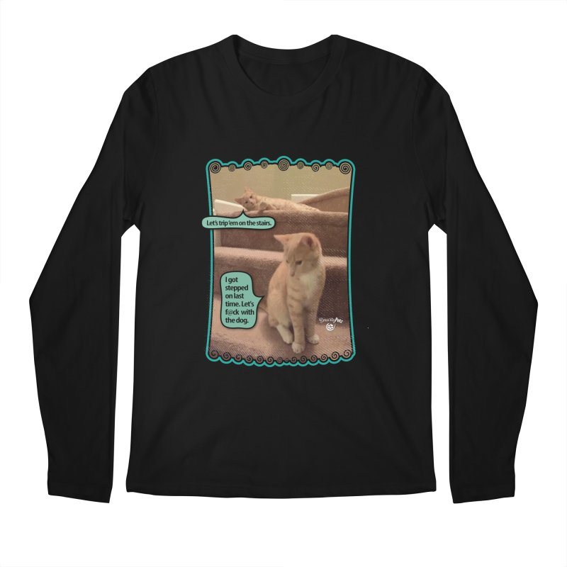 Let's f@ck with the dog. Men's Regular Longsleeve T-Shirt by SmartyPetz's Artist Shop