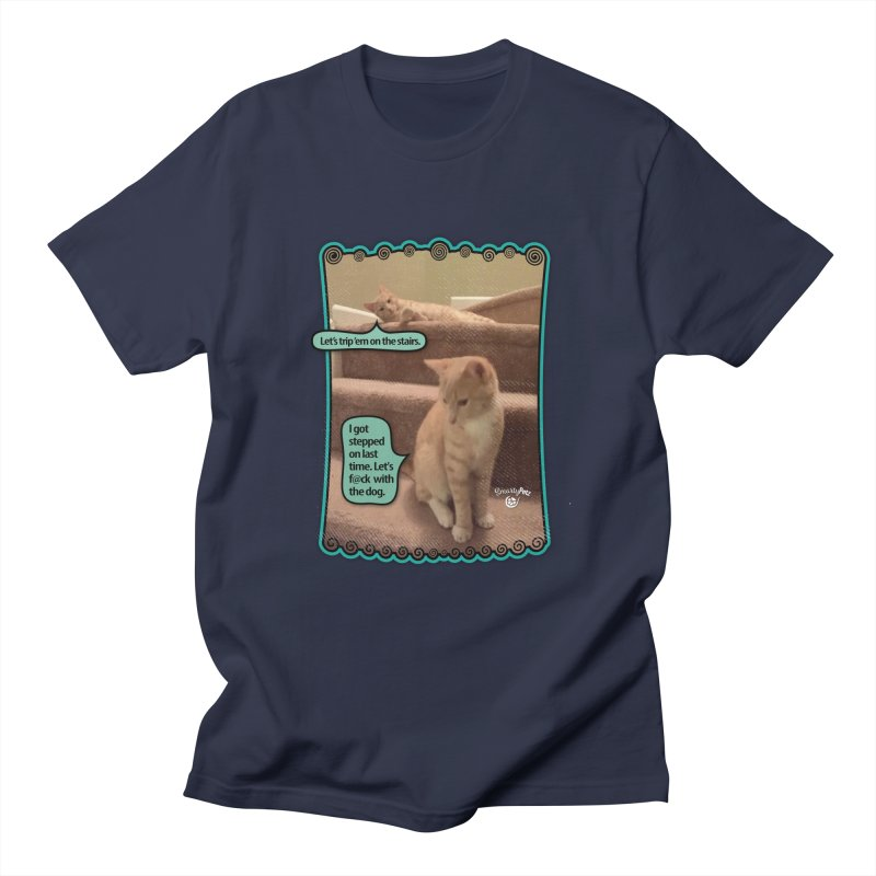 Let's f@ck with the dog. Men's Regular T-Shirt by SmartyPetz's Artist Shop
