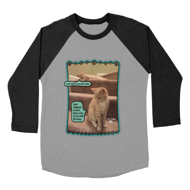 Let's f@ck with the dog. Men's Baseball Triblend Longsleeve T-Shirt by SmartyPetz's Artist Shop
