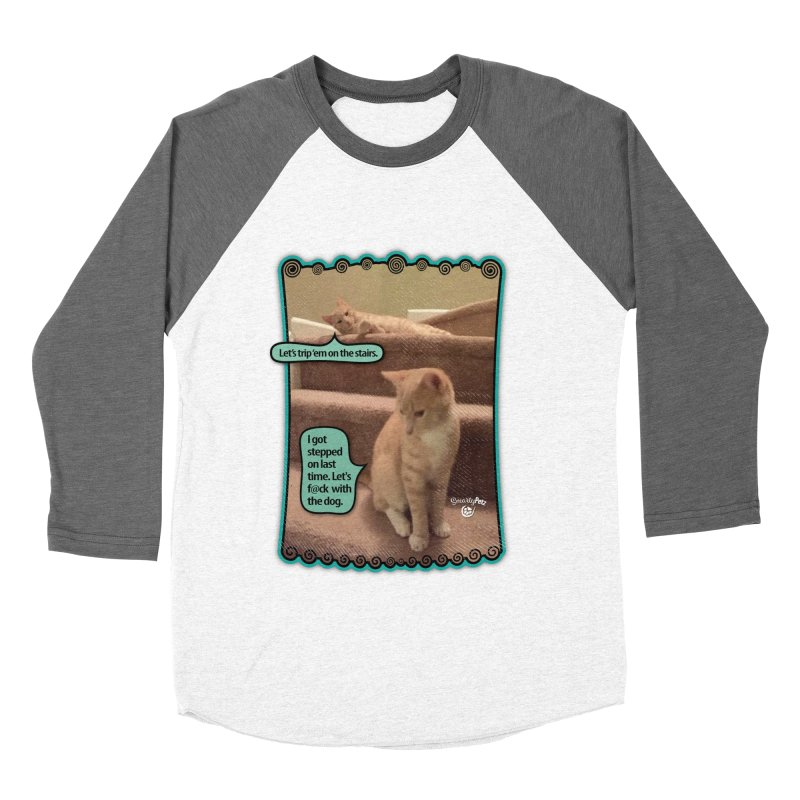 Let's f@ck with the dog. Men's Baseball Triblend Longsleeve T-Shirt by Smarty Petz's Artist Shop