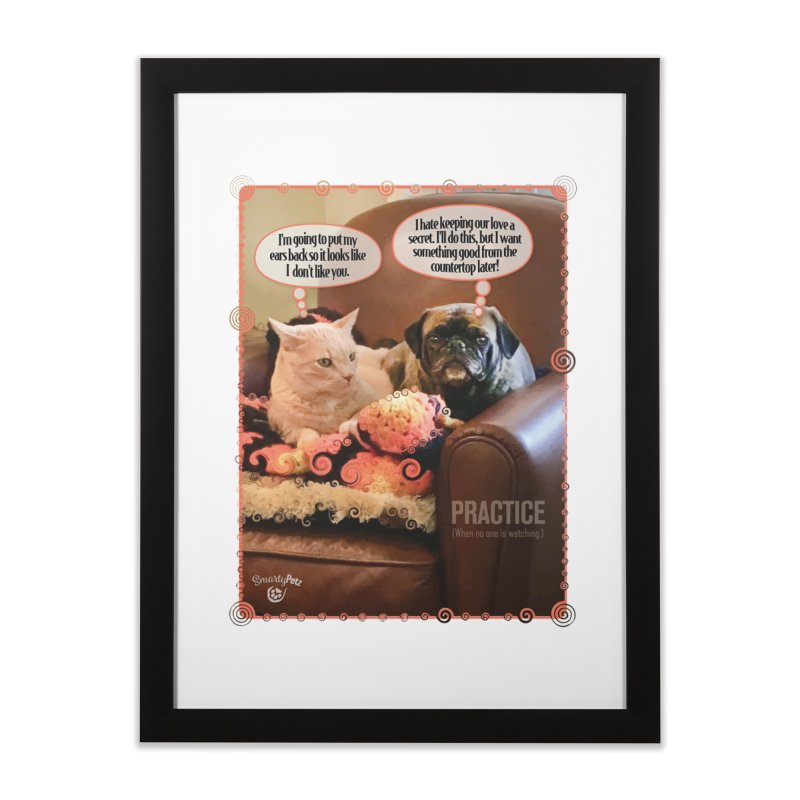PRACTICE Home Framed Fine Art Print by SmartyPetz's Artist Shop