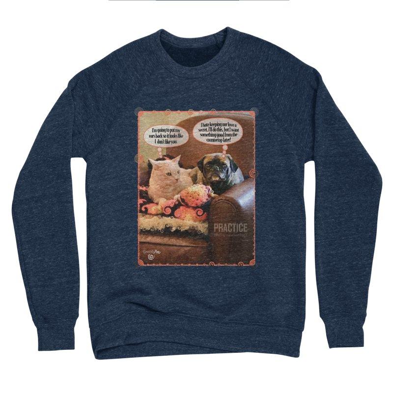PRACTICE Men's Sponge Fleece Sweatshirt by SmartyPetz's Artist Shop