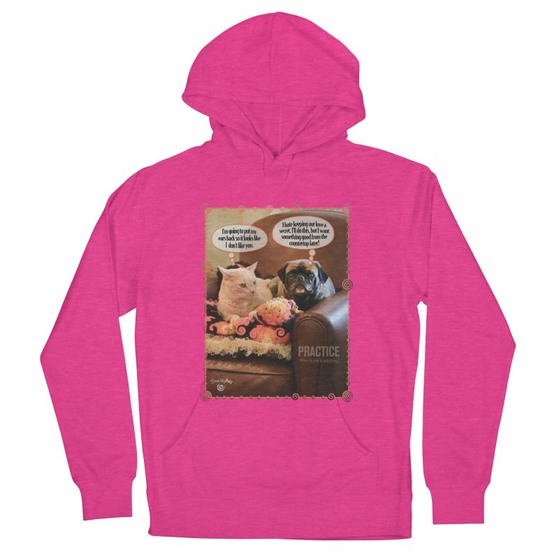 PRACTICE Men's French Terry Pullover Hoody by SmartyPetz's Artist Shop