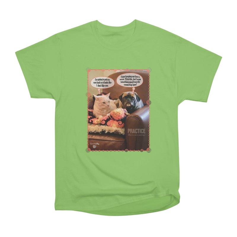 PRACTICE Women's Heavyweight Unisex T-Shirt by SmartyPetz's Artist Shop