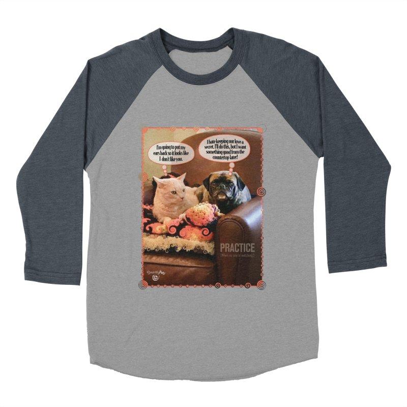 PRACTICE Women's Baseball Triblend Longsleeve T-Shirt by SmartyPetz's Artist Shop