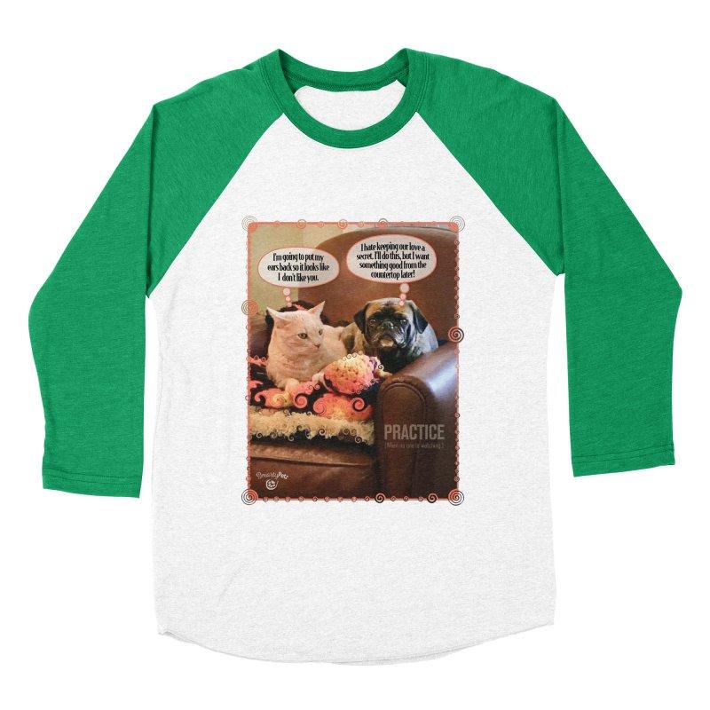 PRACTICE Men's Baseball Triblend Longsleeve T-Shirt by SmartyPetz's Artist Shop