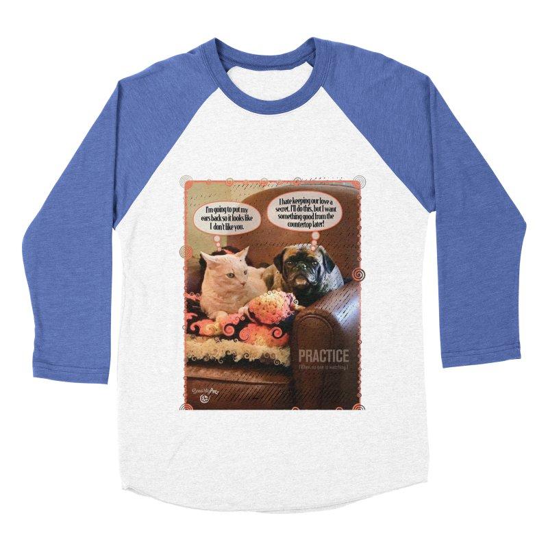 PRACTICE Women's Baseball Triblend Longsleeve T-Shirt by Smarty Petz's Artist Shop