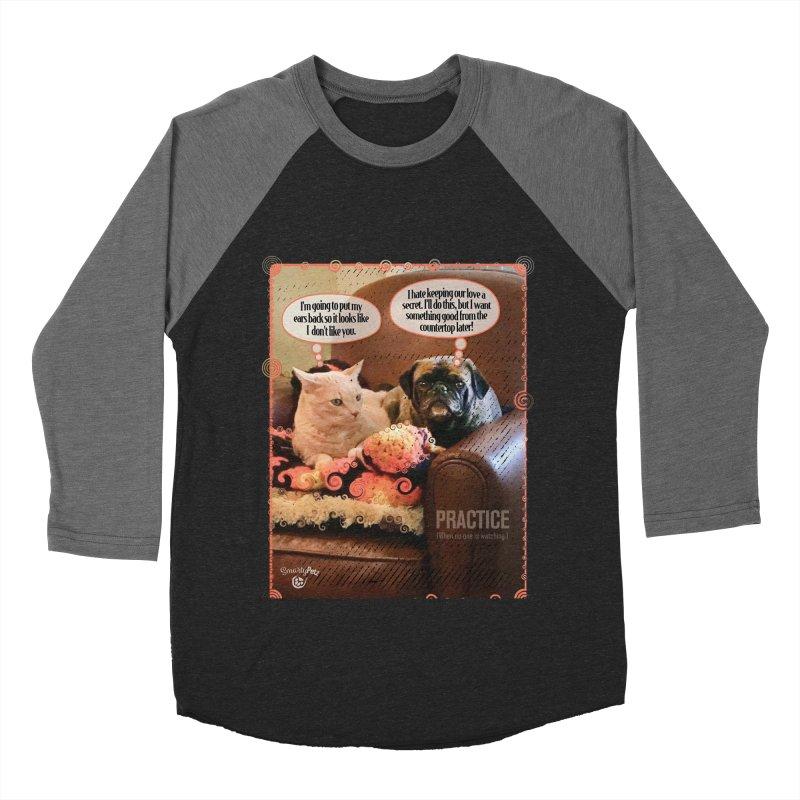 PRACTICE Men's Baseball Triblend Longsleeve T-Shirt by Smarty Petz's Artist Shop