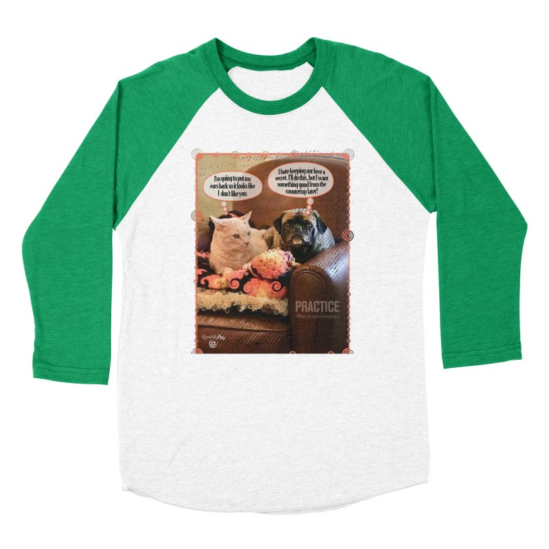 PRACTICE Men's Baseball Triblend Longsleeve T-Shirt by Smarty Petz's Artist Shop