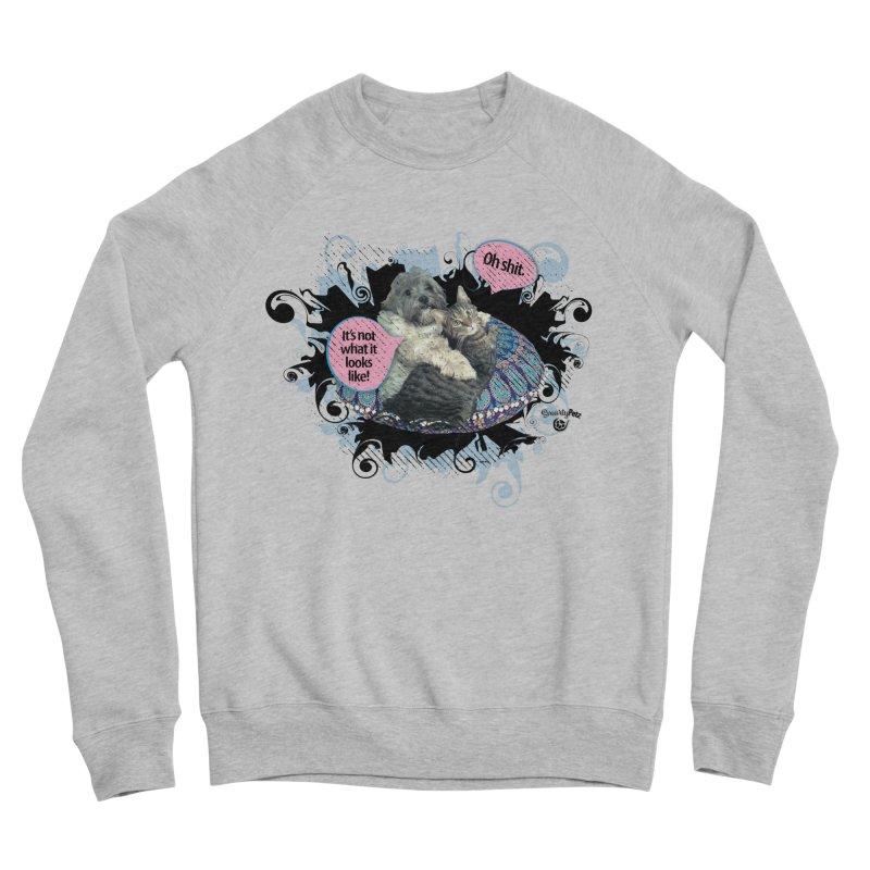It's not what it looks like. Men's Sponge Fleece Sweatshirt by SmartyPetz's Artist Shop