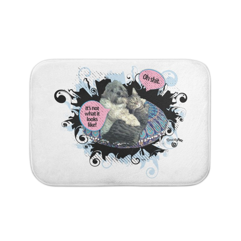 It's not what it looks like. Home Bath Mat by SmartyPetz's Artist Shop
