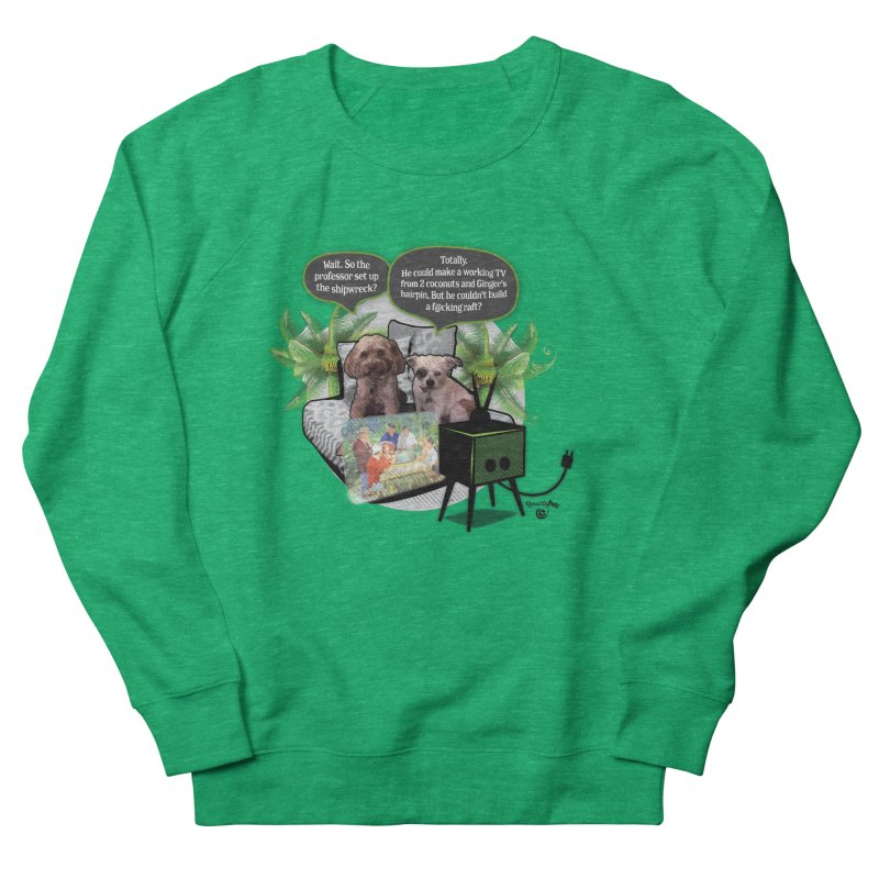Shipwrecked Women's French Terry Sweatshirt by SmartyPetz's Artist Shop
