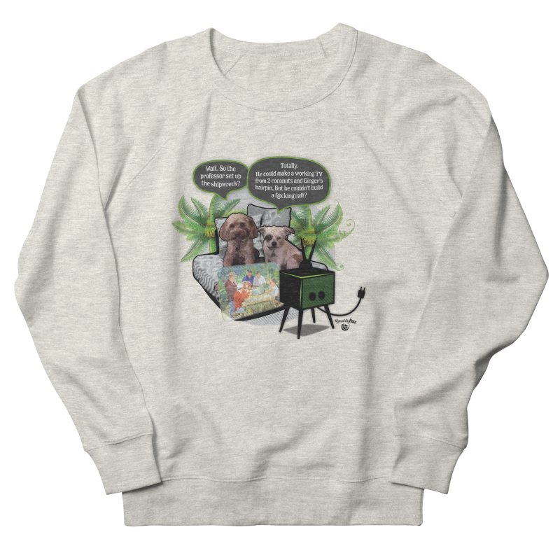 Shipwrecked Men's French Terry Sweatshirt by SmartyPetz's Artist Shop