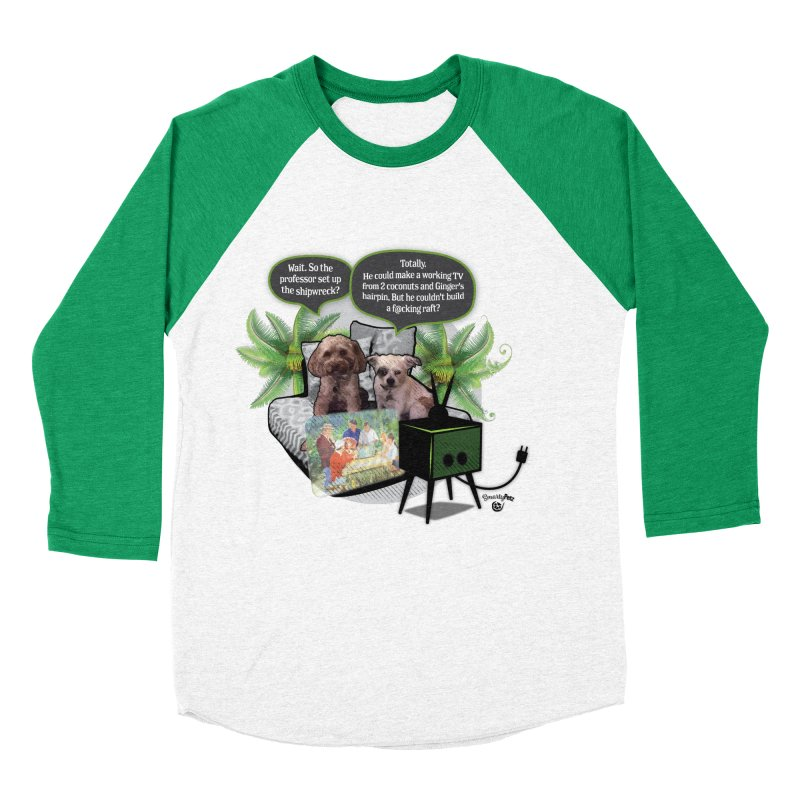 Shipwrecked Men's Baseball Triblend Longsleeve T-Shirt by Smarty Petz's Artist Shop