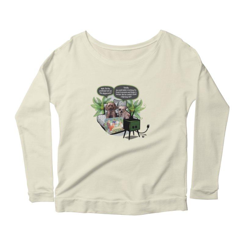 Shipwrecked Women's Scoop Neck Longsleeve T-Shirt by SmartyPetz's Artist Shop
