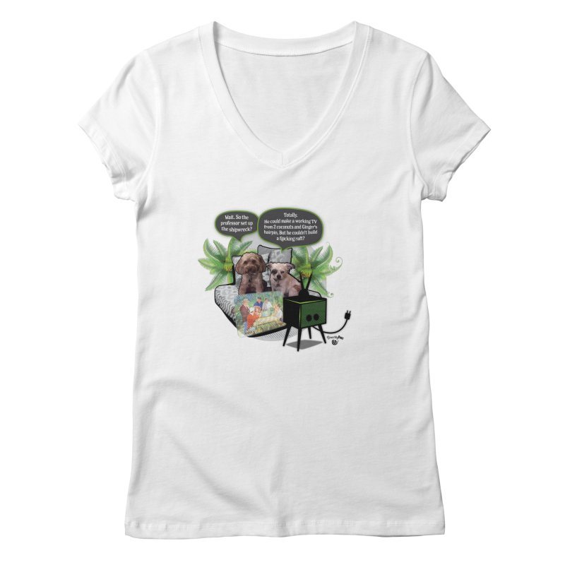 Shipwrecked Women's Regular V-Neck by SmartyPetz's Artist Shop