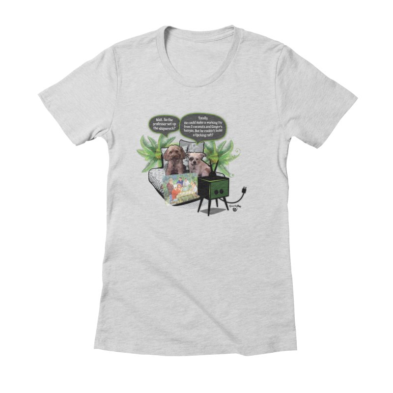 Shipwrecked Women's Fitted T-Shirt by SmartyPetz's Artist Shop