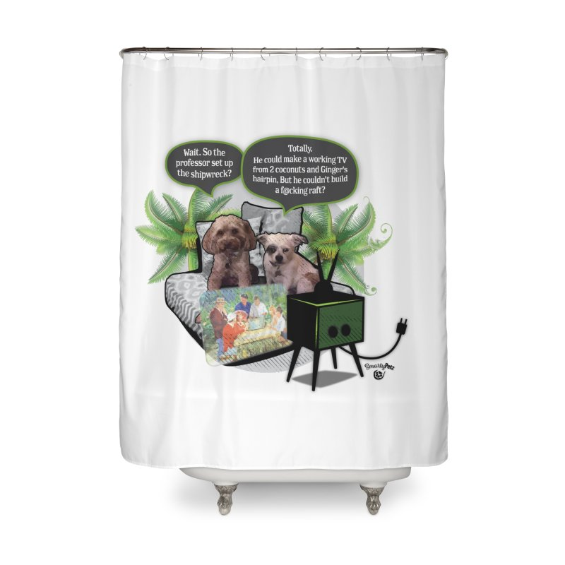 Shipwrecked Home Shower Curtain by SmartyPetz's Artist Shop