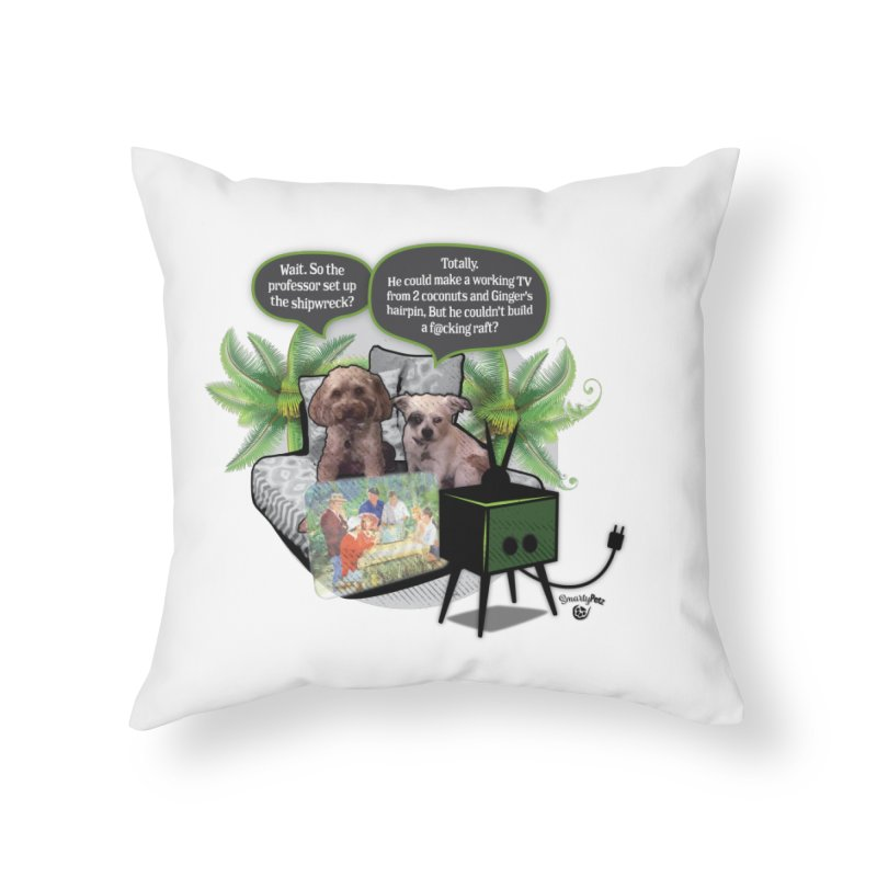 Shipwrecked Home Throw Pillow by SmartyPetz's Artist Shop