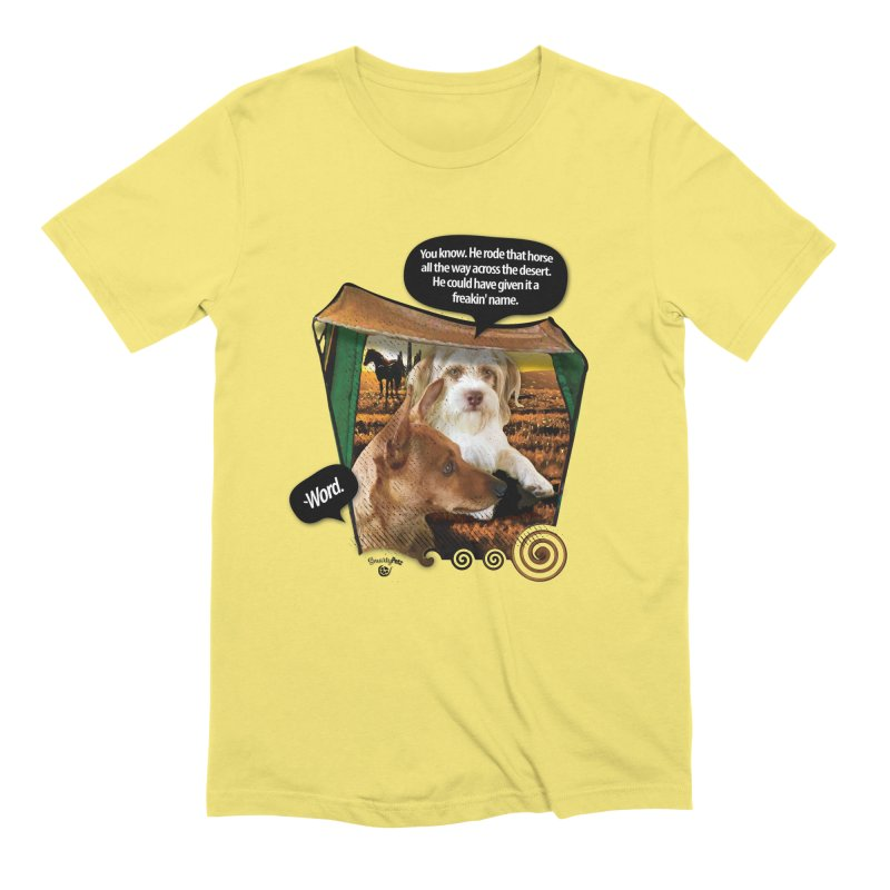 Horse with no name. Men's Extra Soft T-Shirt by SmartyPetz's Artist Shop