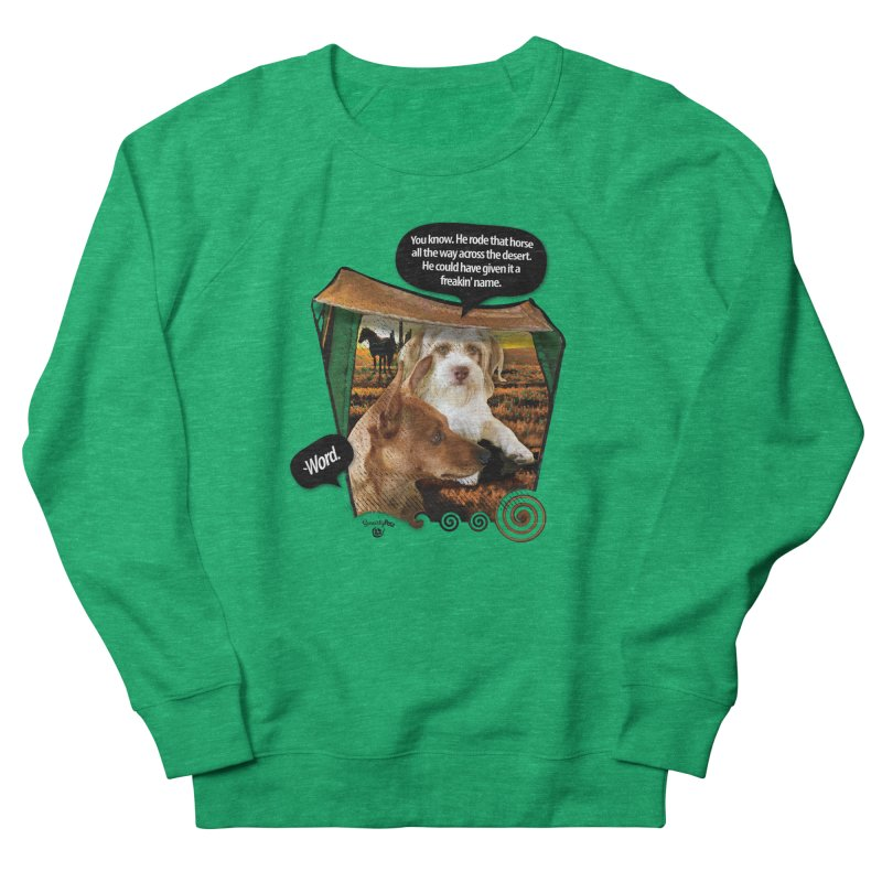 Horse with no name. Men's French Terry Sweatshirt by SmartyPetz's Artist Shop