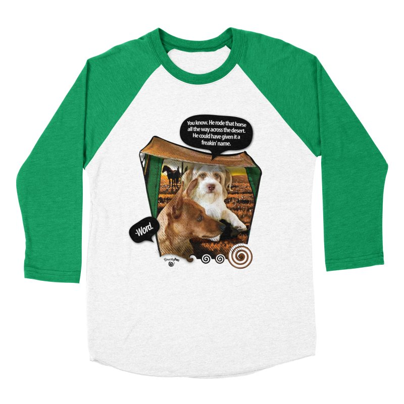 Horse with no name. Men's Baseball Triblend Longsleeve T-Shirt by SmartyPetz's Artist Shop