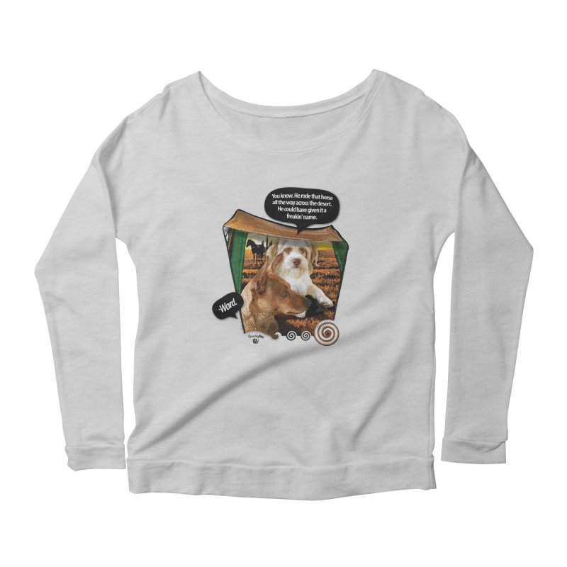 Horse with no name. Women's Scoop Neck Longsleeve T-Shirt by SmartyPetz's Artist Shop