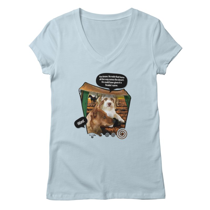 Horse with no name. Women's Regular V-Neck by SmartyPetz's Artist Shop