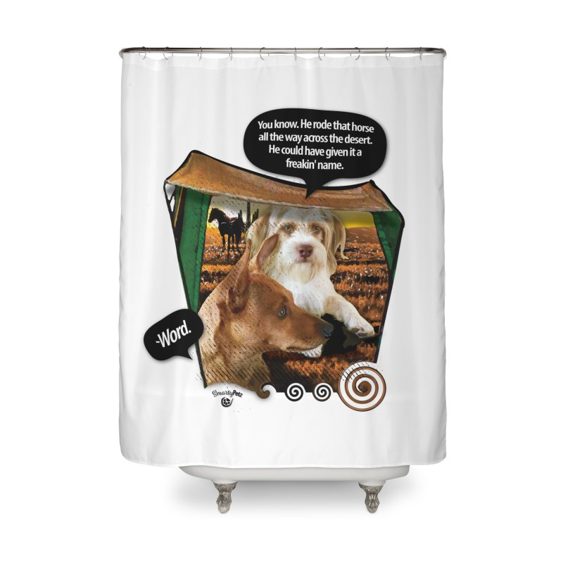 Horse with no name. Home Shower Curtain by SmartyPetz's Artist Shop