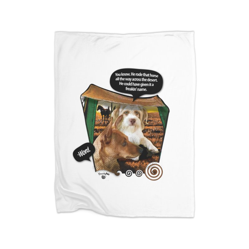 Horse with no name. Home Blanket by SmartyPetz's Artist Shop