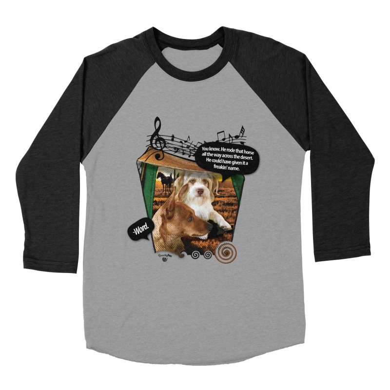 Horse with no name. Men's Baseball Triblend Longsleeve T-Shirt by Smarty Petz's Artist Shop