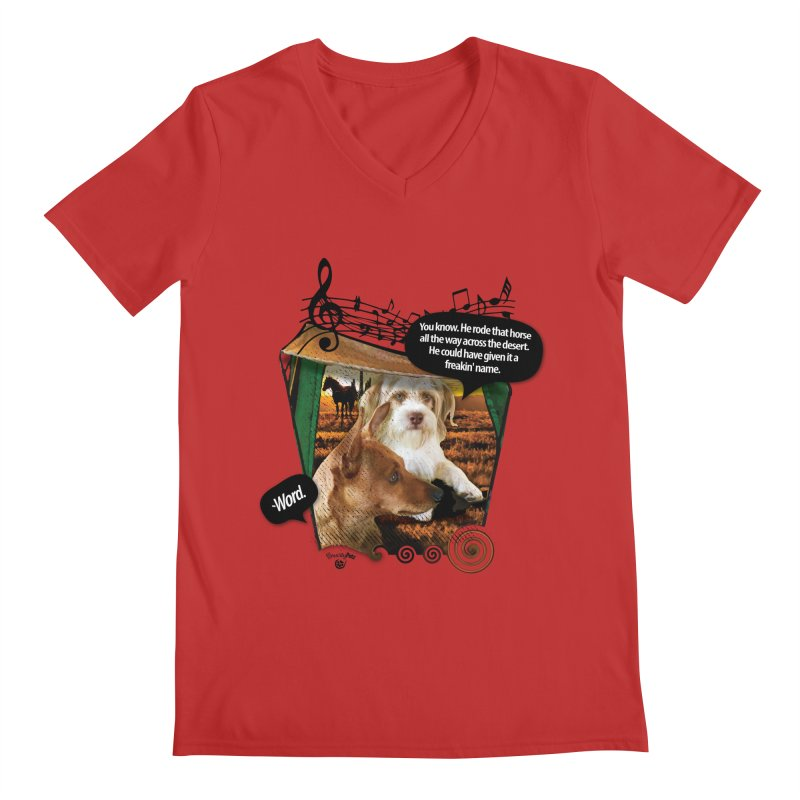 Horse with no name. Men's Regular V-Neck by Smarty Petz's Artist Shop