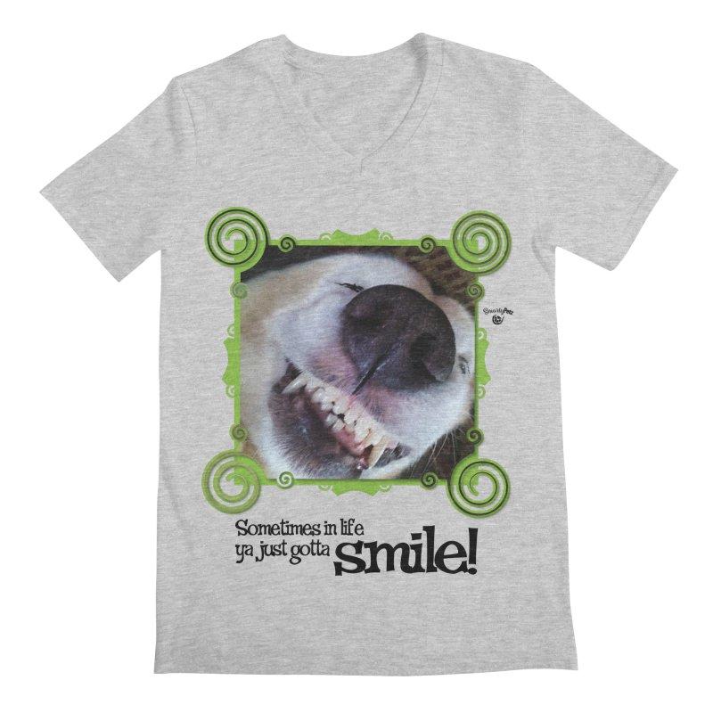Smilely Men's Regular V-Neck by Smarty Petz's Artist Shop