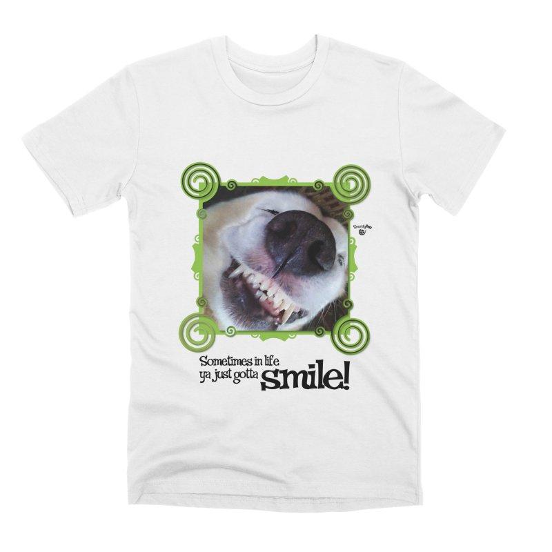 Smilely Men's Premium T-Shirt by Smarty Petz's Artist Shop