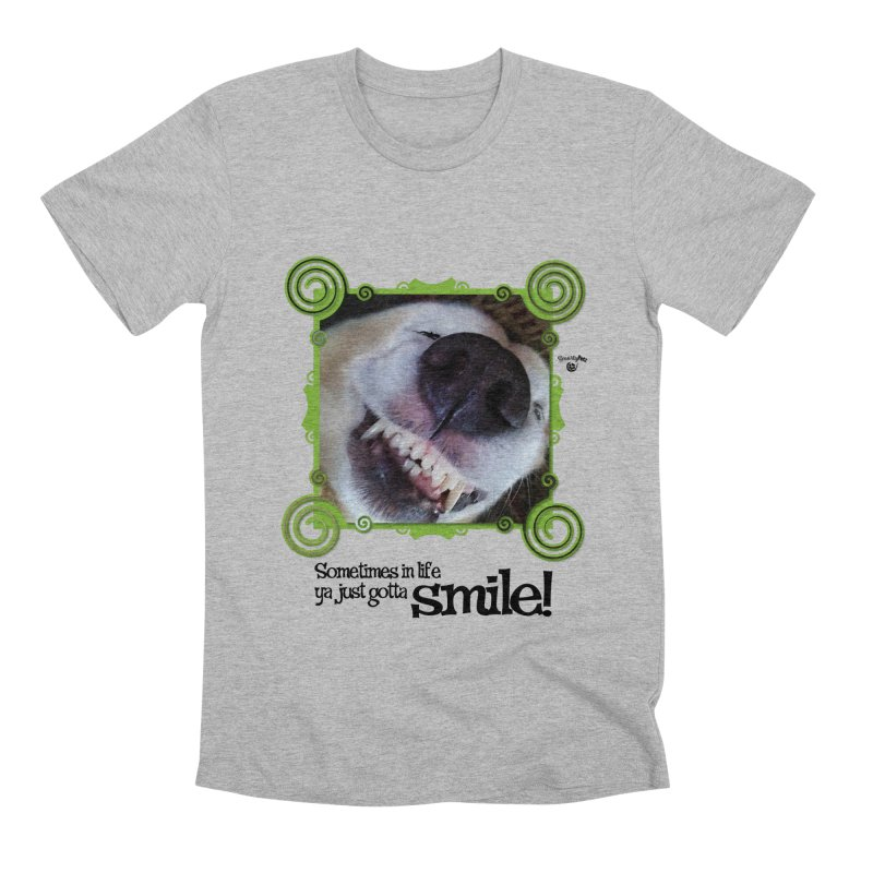 Smilely Men's Premium T-Shirt by Smarty Petz's Artist Shop