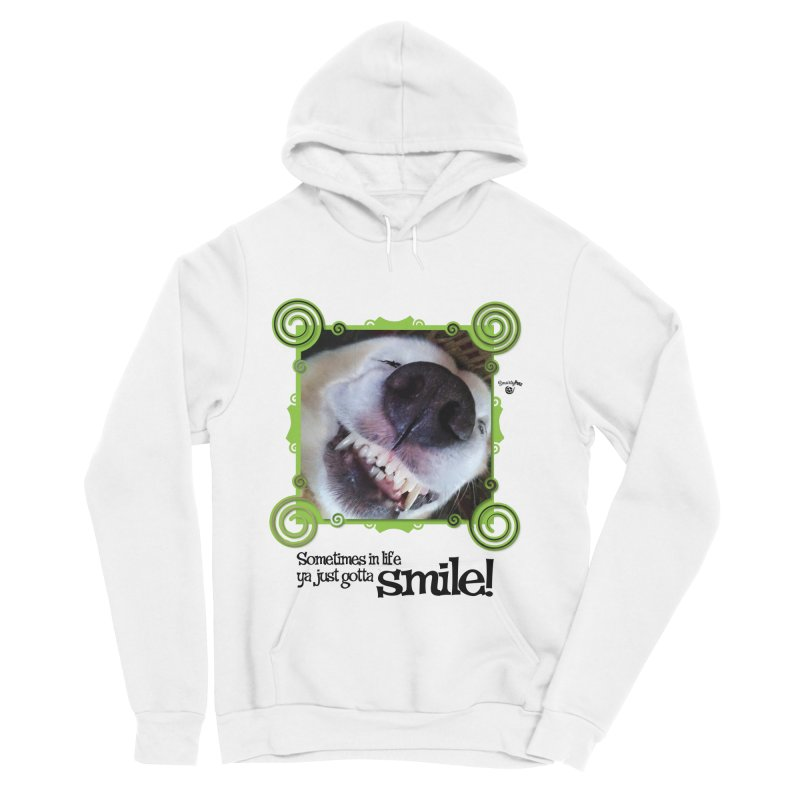 Smilely Men's Sponge Fleece Pullover Hoody by Smarty Petz's Artist Shop