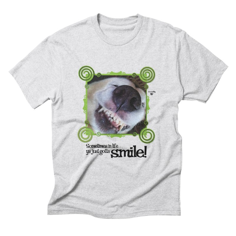 Smilely Men's Triblend T-Shirt by Smarty Petz's Artist Shop