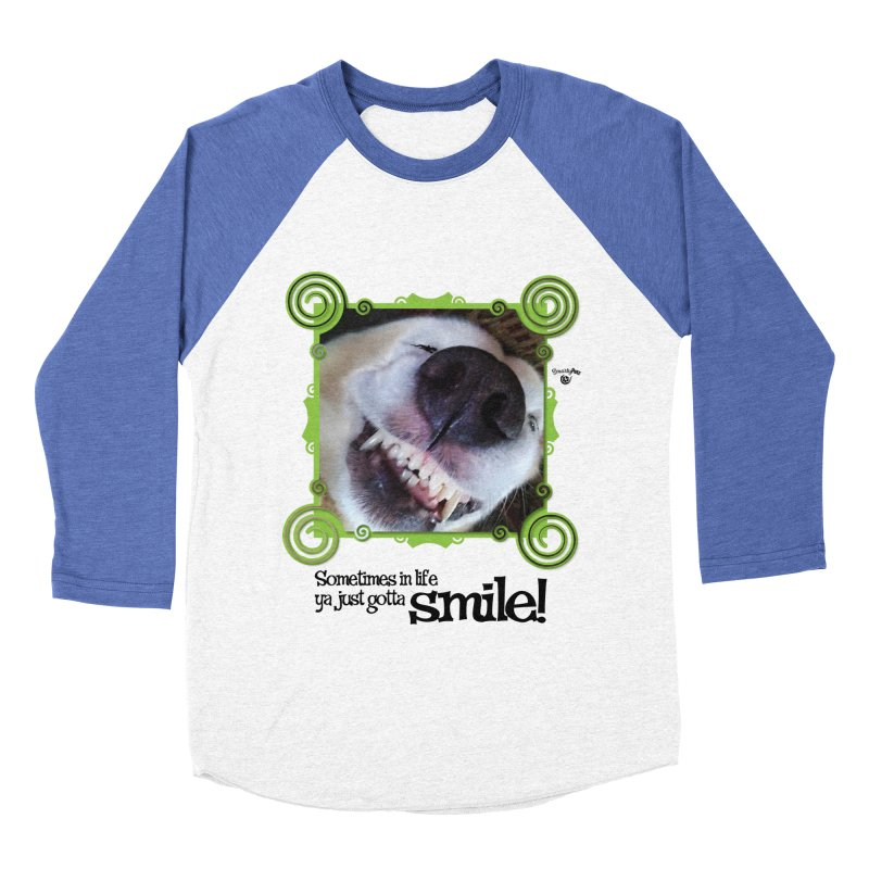 Smilely Men's Baseball Triblend Longsleeve T-Shirt by Smarty Petz's Artist Shop