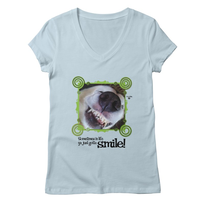 Smilely Women's Regular V-Neck by Smarty Petz's Artist Shop