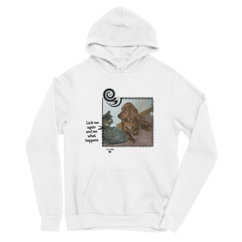 Don't lick me. Men's Sponge Fleece Pullover Hoody by Smarty Petz's Artist Shop