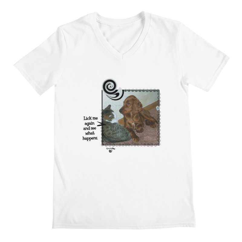 Don't lick me. Men's Regular V-Neck by Smarty Petz's Artist Shop