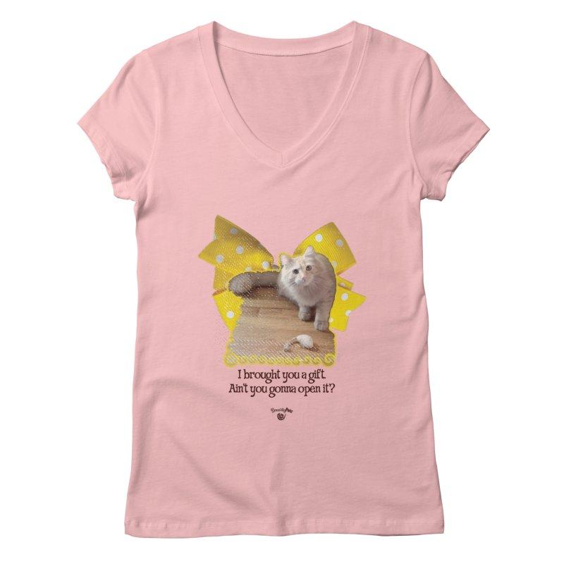 Gift Women's Regular V-Neck by Smarty Petz's Artist Shop
