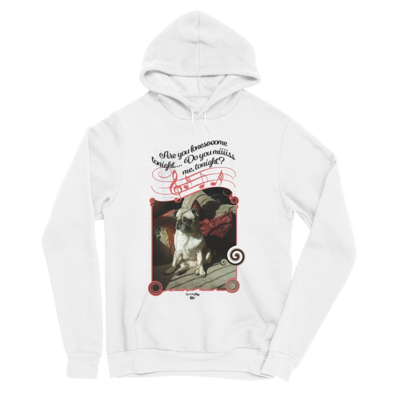 Lonesome Men's Sponge Fleece Pullover Hoody by Smarty Petz's Artist Shop