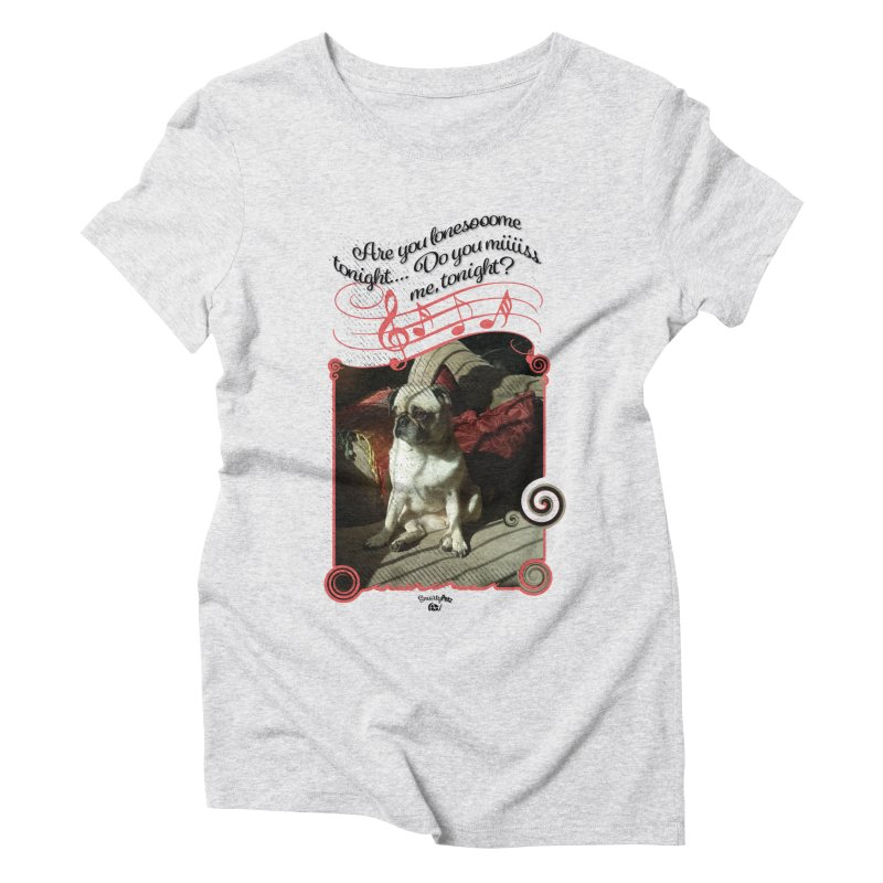Lonesome Women's Triblend T-Shirt by Smarty Petz's Artist Shop