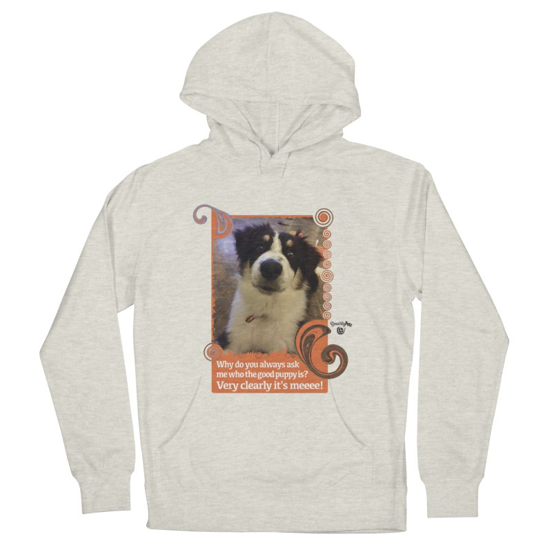 Good Puppy Men's French Terry Pullover Hoody by Smarty Petz's Artist Shop